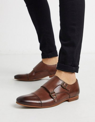 Scarpa elegante Cuoio uomo Scarpe con fibbie in pelle cuoio - Walk London - Luca