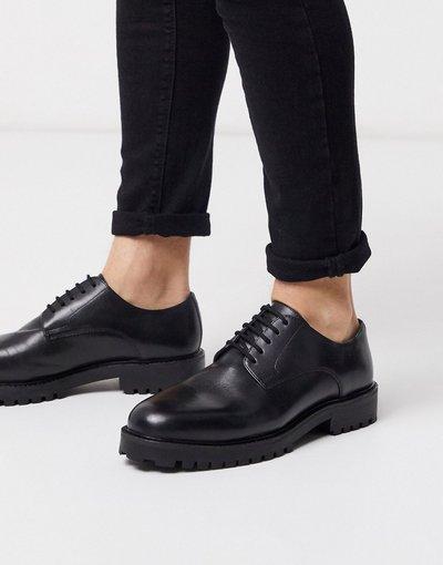 Scarpa elegante Nero uomo Scarpe derby in pelle nere - Walk London - Sean - Nero