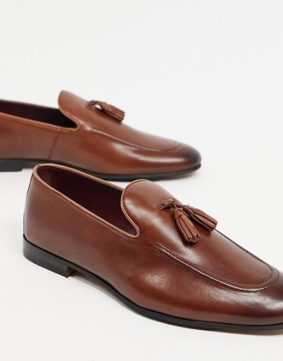 Scarpa elegante Cuoio uomo Mocassini con nappe in pelle cuoio - Walk London - Terry