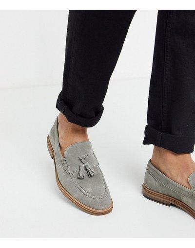 Scarpa elegante Grigio uomo Mocassini grigi scamosciati con nappe - Walk London - West - Grigio