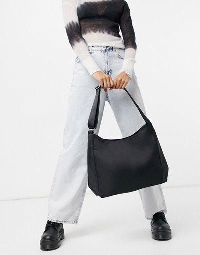 Portafoglio Nero donna Borsa da spalla in tessuto riciclato nera - Weekday - Carry - Nero