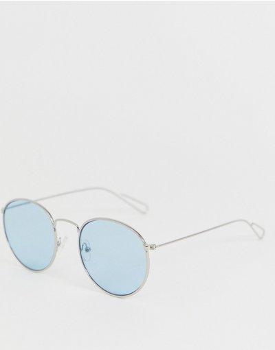 Occhiali Argento uomo Occhiali da sole rotondi in metallo argento - Explore - Weekday