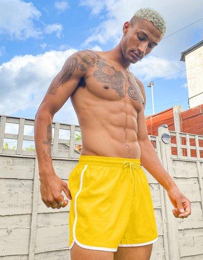 Costume Giallo uomo Pantaloncini da bagno gialli - Weekday - Giallo - Tan