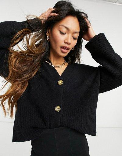 Nero donna Cardigan in maglia con maniche lunghe nero - Whistles