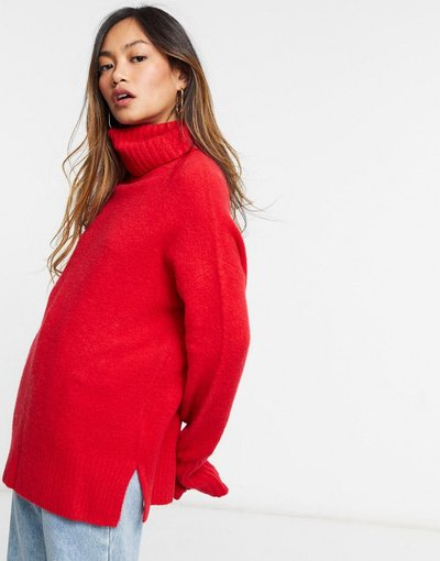 Rosso donna Dolcevita oversize rosso - Whistles