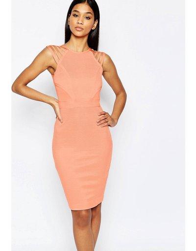 Arancione donna Vestito attillato con listini - WOW Couture - Arancione