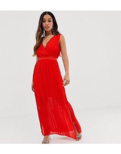 Eleganti lunghi Rosso donna Vestito lungo a portafoglio a pieghe - Y.A.S Petite - Rosso