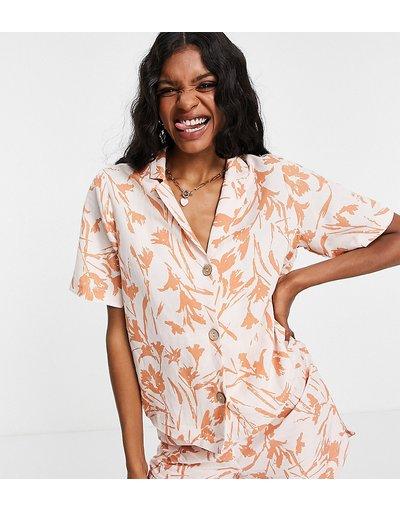 Pigiami Multicolore donna Camicia a maniche corte con stampa tropicale in coordinato - Y.A.S Tall - Multicolore