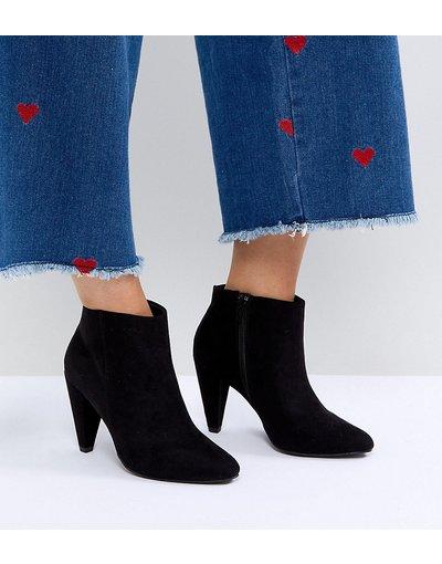 New look stivali con tacco a cono in camoscio sintetico