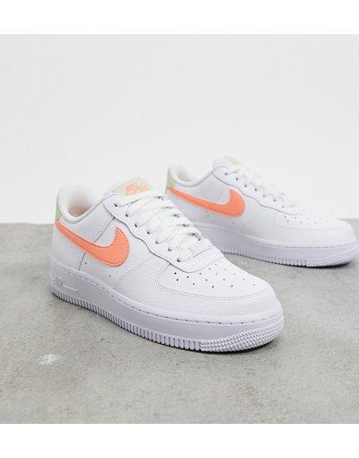 air force 1 donna bianche e arancione