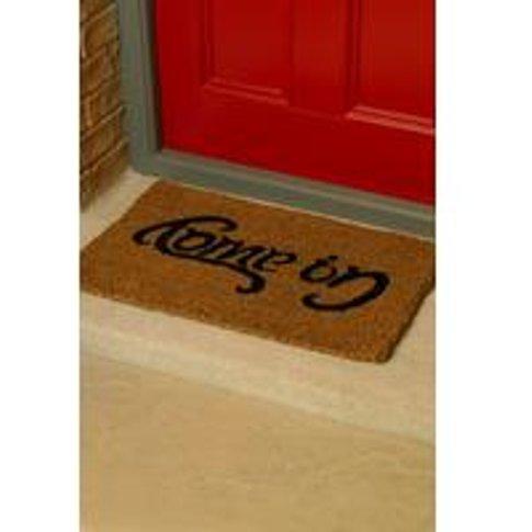 Go Away Come In Ambigram Doormat