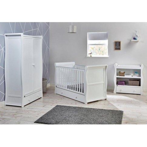 Nebraska 3 Piece Roomset Cotbed&#44 Dresser&#44 Ward...