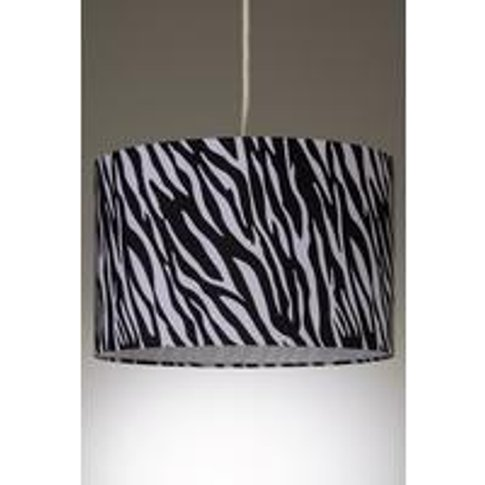 Zebra Print Faux Silk Easy Fit Lamp Shade