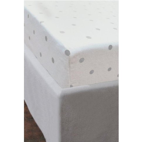 Polka Dot Brushed Cotton Fitted Sheet