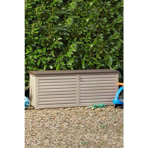 Lockable Garden Storage With Sit On Lid