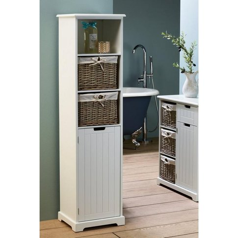 Burleigh Tall Cabinet With 2 Baskets