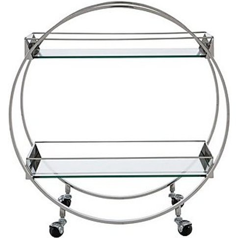 Alfred Drinks Trolley - Silver - By Furniture Village