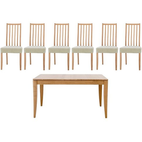 Artisan Extending Dining Table And 6 Slatted Chairs