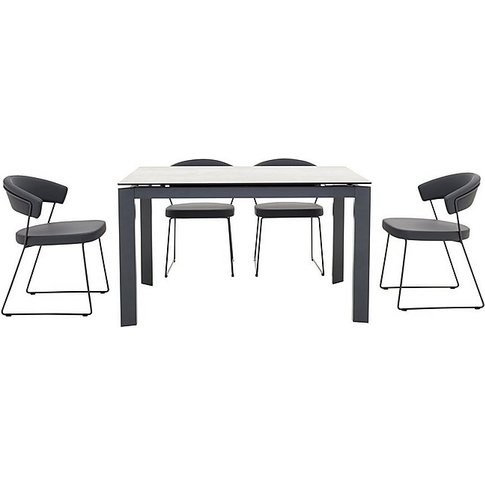 Calligaris - New Baron Extending Dining Table And 4 ...
