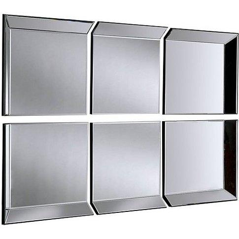 Byblos 6 Panel Mirror - Silver - By Furniture Village