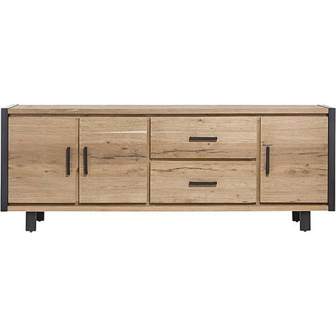 Detroit 3 Door 2 Drawer Sideboard - Brown