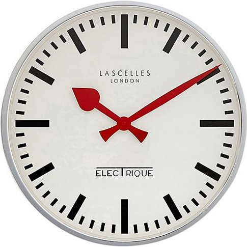 Electric Chrome Wall Clock - Cream - By Furniture Vi...