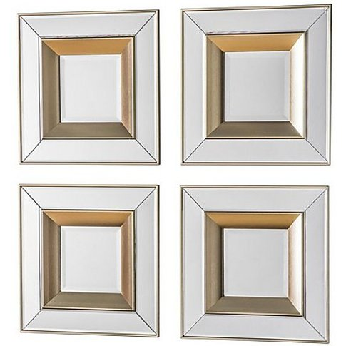 Emmy Set Of 4 Mirrors - Gold - By Furniture Village