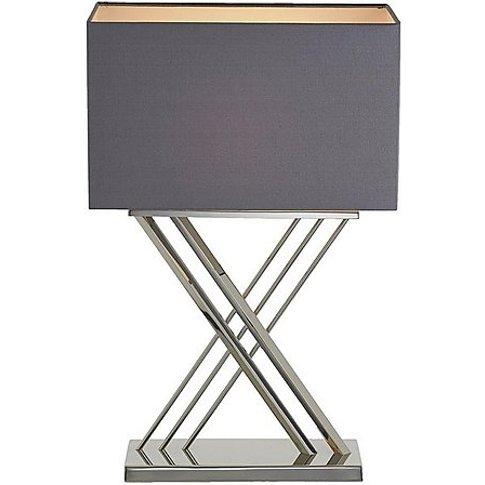 Farren Nickel Table Lamp - Silver