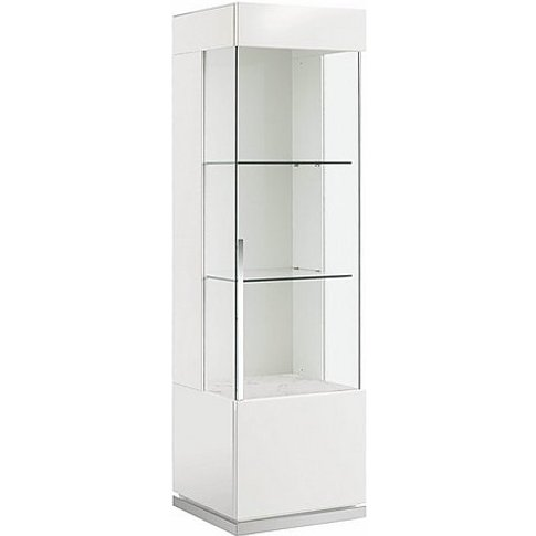 Alf - Fascino 1 Door Right Hand Curio Cabinet - White