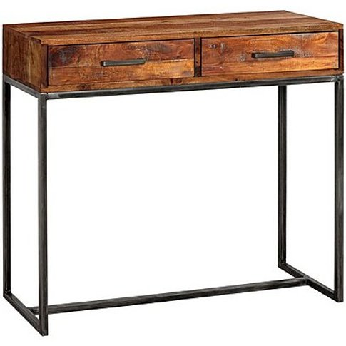 Fire 2 Drawer Console Table - Brown
