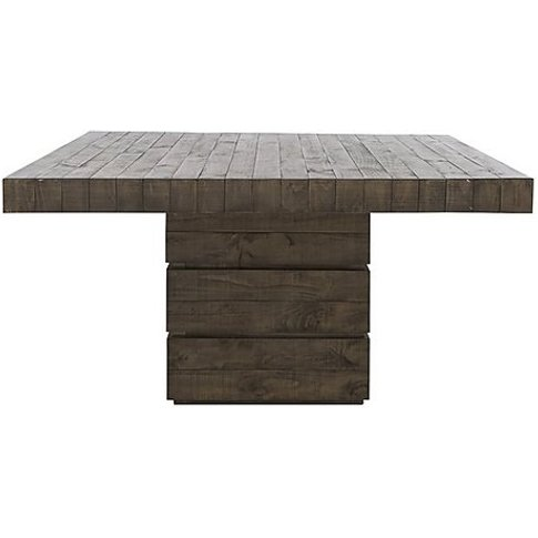 Folsom Square Dining Table - Brown