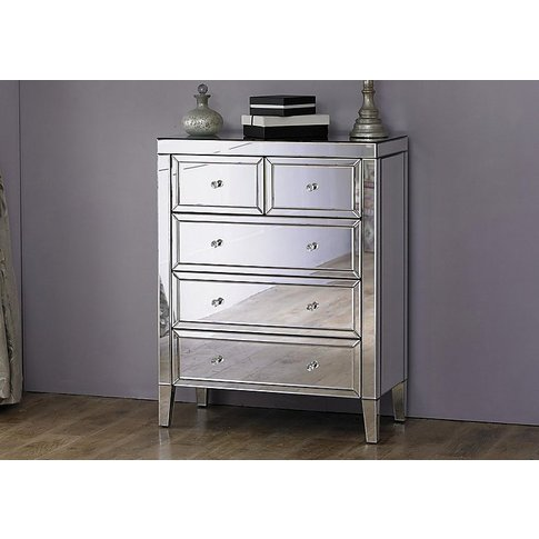Francesca 3 + 2 Drawer Chest - Silver - By Furniture...