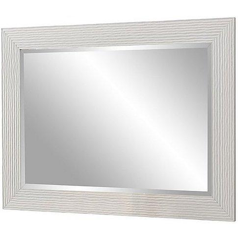 Gloss White Textured Mirror