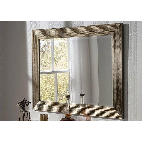 Gloss Bronze Textured Mirror - Bronze