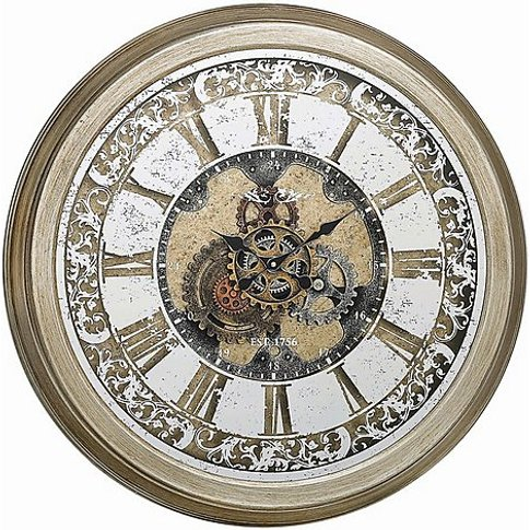 Iris Wall Clock - Gold - By Furniture Village