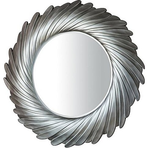 Lowry Mirror Silver - Silver - By Furniture Village