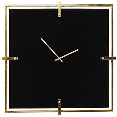 Mamba Black Wall Clock - By Furniture Village