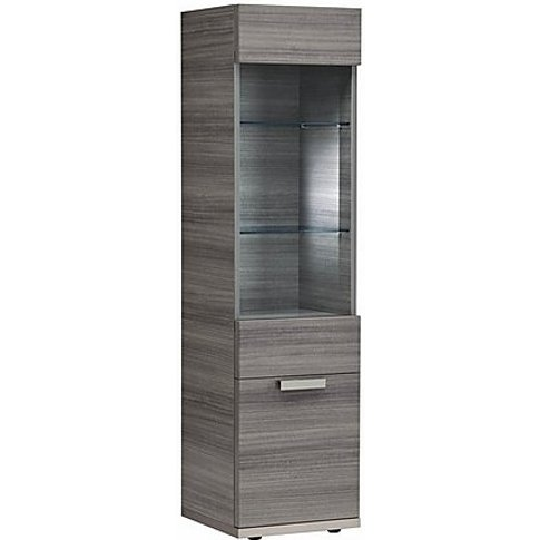 Alf - Movado Left-Hand Facing Curio Cabinet - Grey