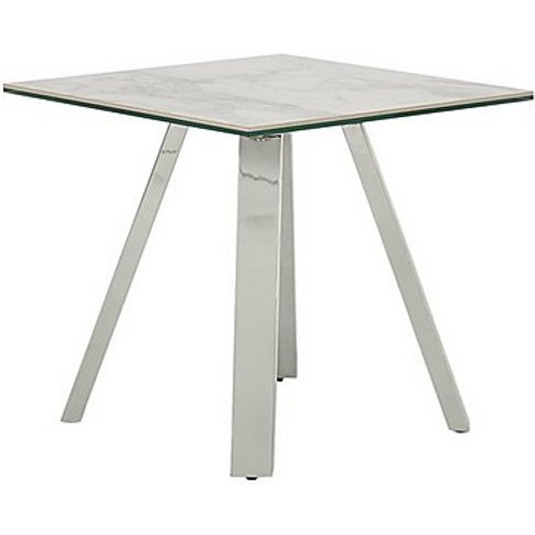 Nevada Lamp Table - White - By Furniture Village