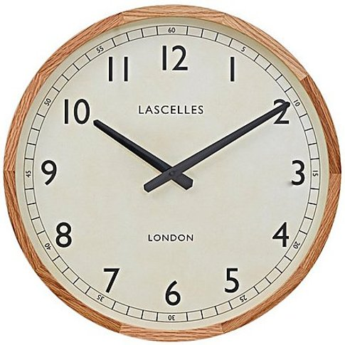 Oak Frame Clock - White - By Furniture Village