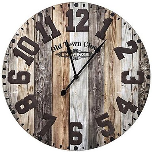 Old Town Wall Clock - Brown - By Furniture Village