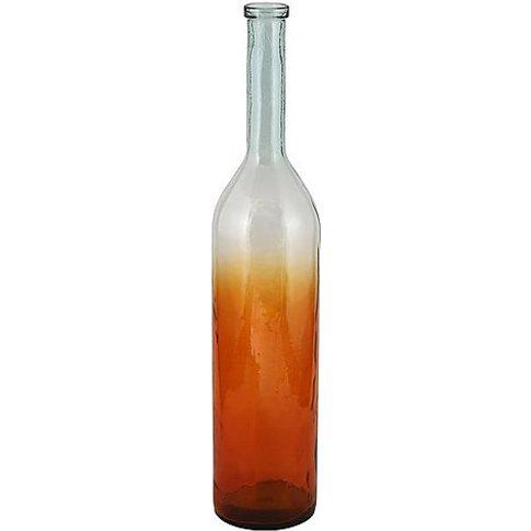 Ombre Giant Orange Vase