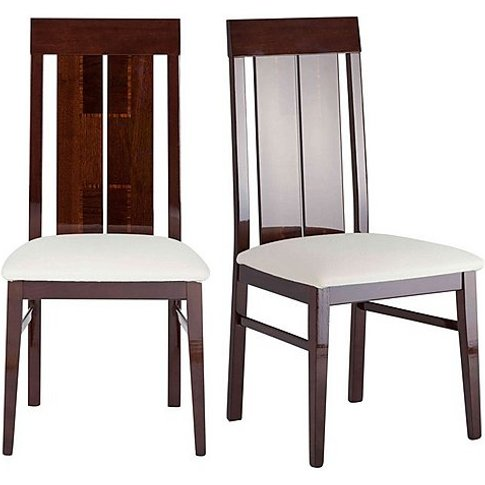 Alf - Palermo Pair Of Side Dining Chairs - Brown