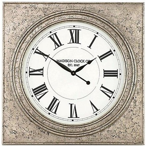 Roza Wall Clock - Silver - By Furniture Village
