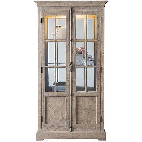 Riviera Display Cabinet - Brown - By Furniture Village