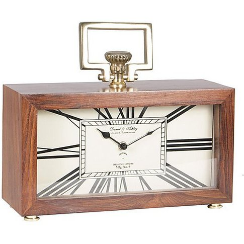 Sheesham Table Clock