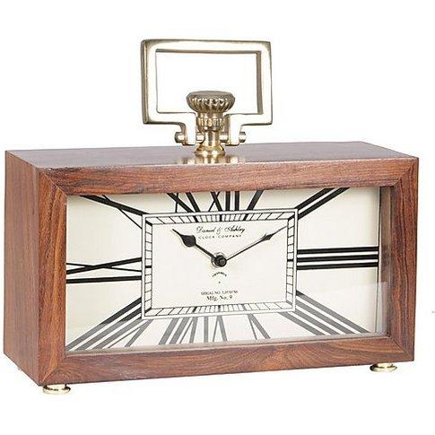 Sheesham Table Clock - Brown - By Furniture Village