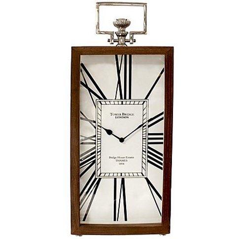 Sheesham Tall Table Clock