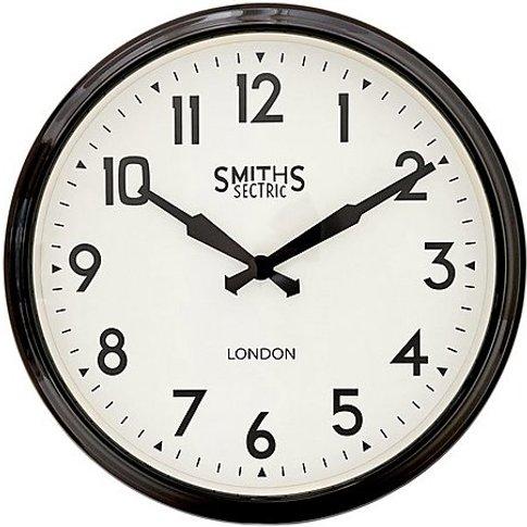 Smith's Retro Clock Black - Black - By Furniture Vil...