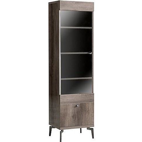 Alf - Soprano Left-Hand Facing 1 Door Curio Cabinet ...
